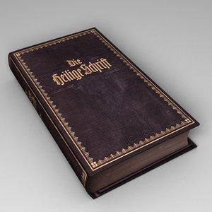 3d book model