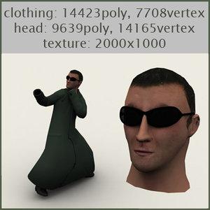 matrix neo 3d model