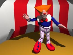 scary clown siggy 3d model