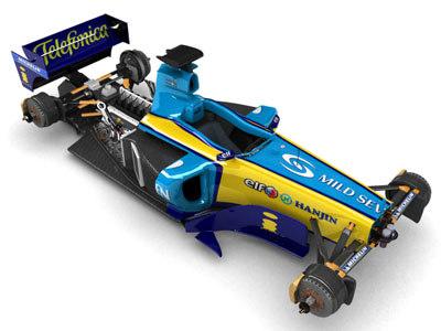 renault f1 r25 car 3d model