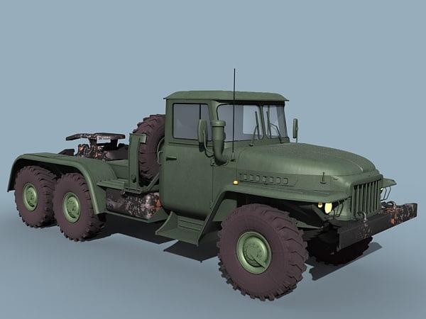 ural prime mover 3d model