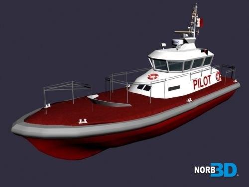 pilot boat 3d 3ds
