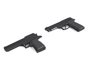beretta desert eagle guns 3d max