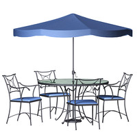 wrought iron dining set 3d 3ds
