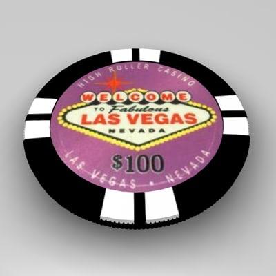 3d model chip gamble