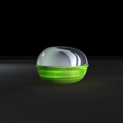 3d model designed perfume bottle