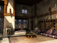 scene old arabian house 3d model