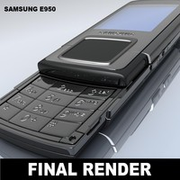samsung e950 mobile phone 3d model