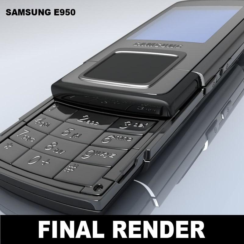 samsung e950 mobile phone 3d model