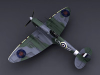 world war supermarine spitfire 3d model