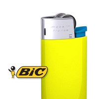 bic lighter 3d obj
