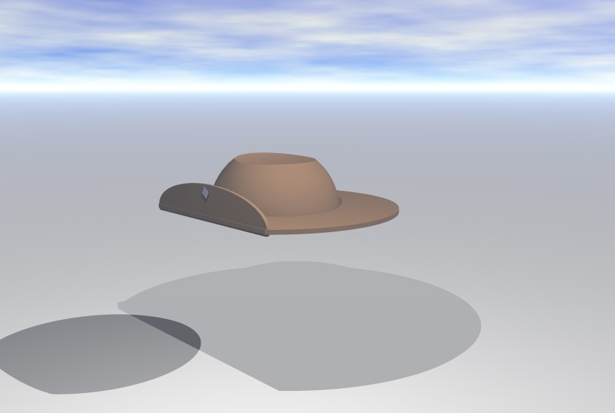 3d model slouch hat