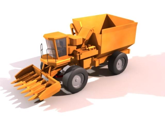 corn harvester 3d model