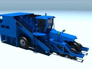 3d harvester combine thresher model
