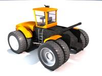 3d model 4wd farm tractor