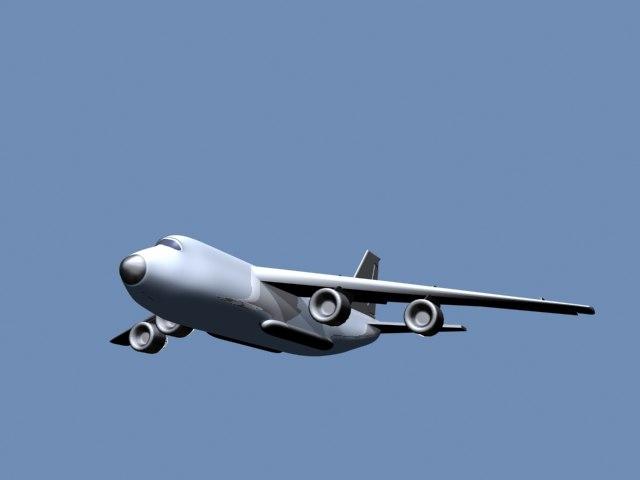 3d model an-124 plane