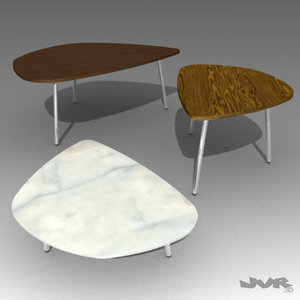 ebony carrara marble 3d model