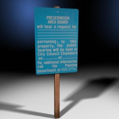 3d blue variance sign