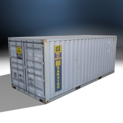 3d storage cargo container