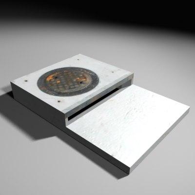 cz05 drain single 3d model