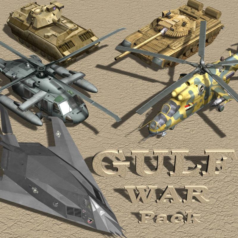 gulf war 3d model