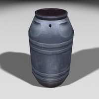 3ds max gray barrel