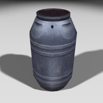 3ds max gray barrel
