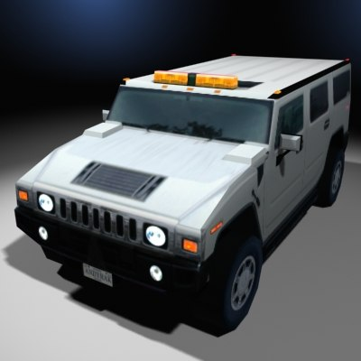 max h2 hummer humvee construction zone