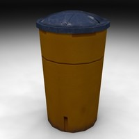 vehicle impact barrel 3d model