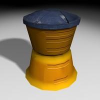 3 impact barrel 3d max
