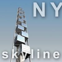 3d model 80 south street tower