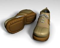 camel sneaker sport shoes 3d model