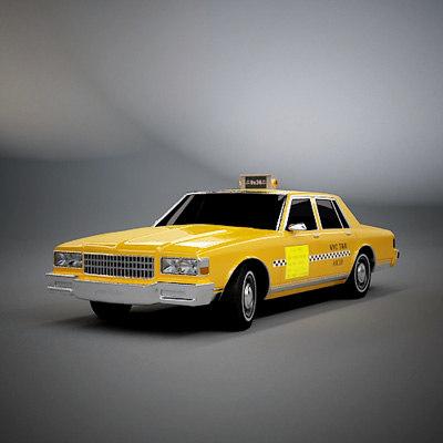 caprice taxi 3d model