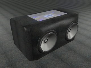 box subwoofers 3d model