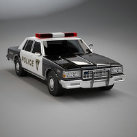 3d chevy caprice police car model