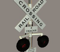 railroad crossing signal 3d 3ds