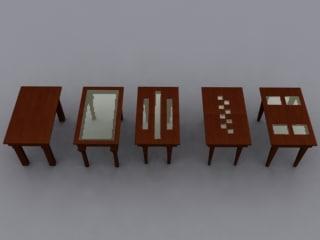 free dinner tables 3d model