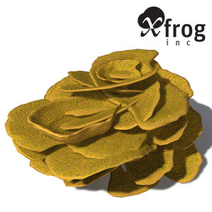 xfrogplants yellow scroll coral obj
