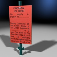 conditional use permit sign max