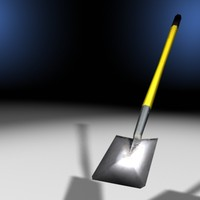 3d single shovel model