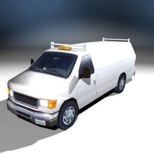 single contractor van 3d model