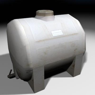 3d non-potable water container construction