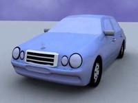 mercedes benz e55 3d model