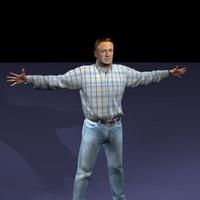john realistic male body scan 3d model