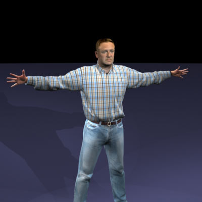 john realistic male body scan 3d model