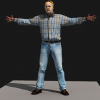 3d ma john realistic male body scan