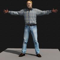 john realistic male body scan x