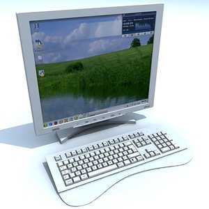 monitor keyboard 3d max