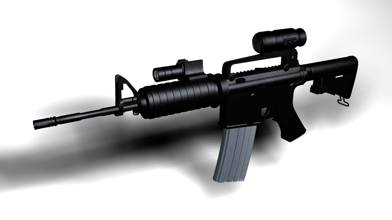 m4 assult rifle 3d model