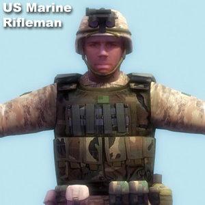 3ds max marine rifleman